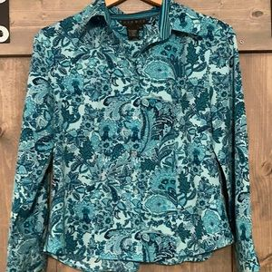 Ninety wrinkle resistant paisley button down LP